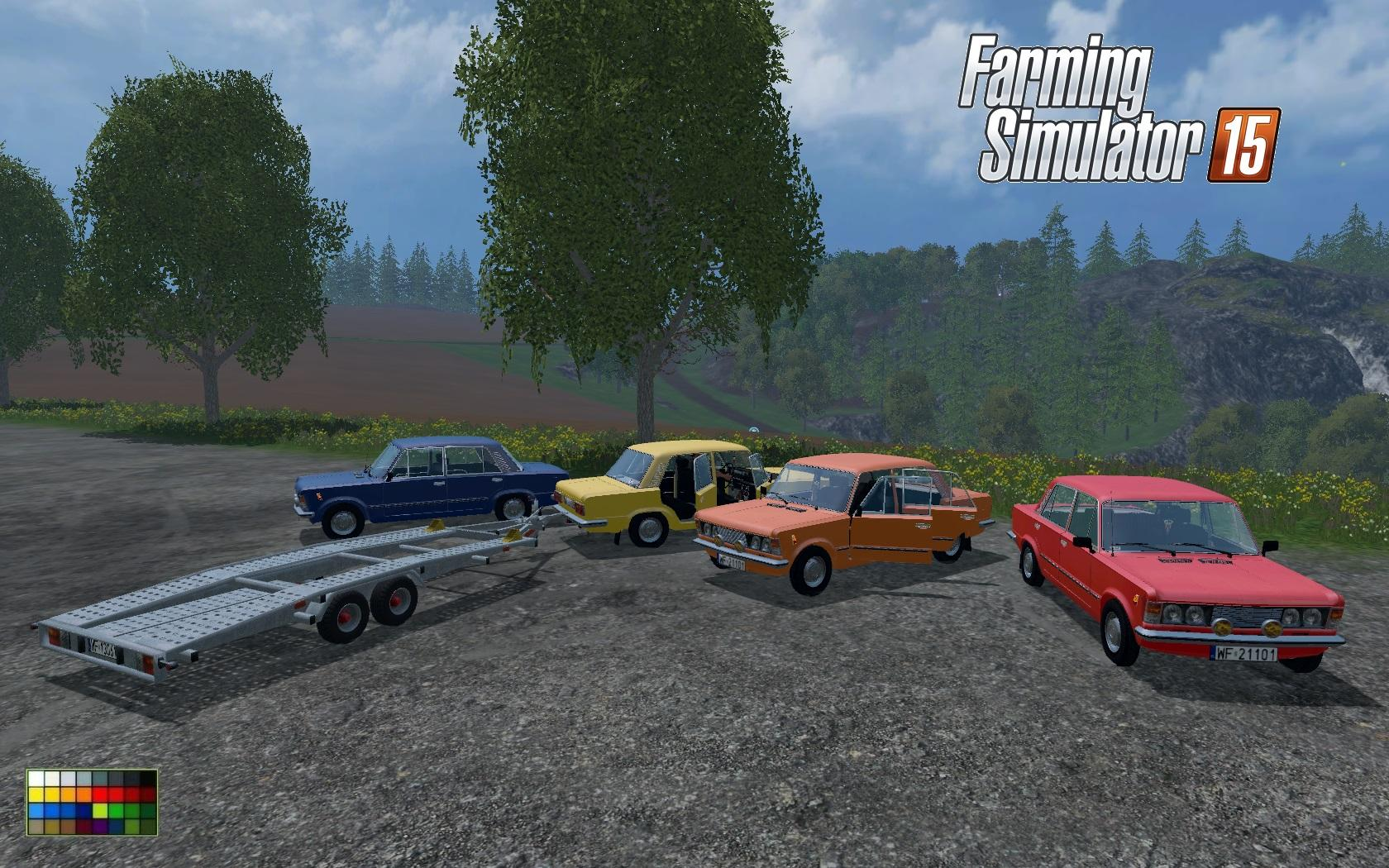 Fiat 125p And Gun Carriageith V1 0 Car Farming Simulator 2019