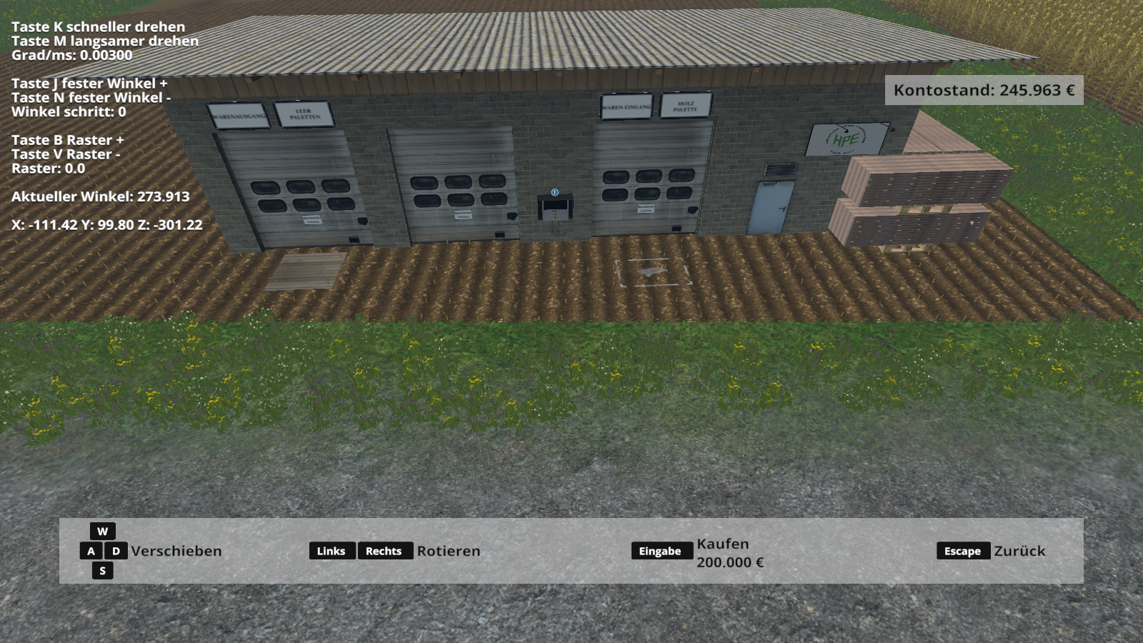 Nice Holzverarbeitung Pack2 Placeable LS 2015