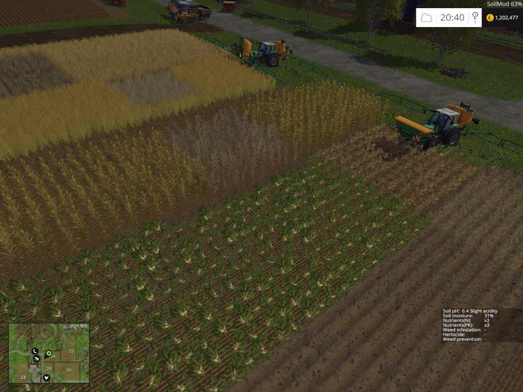Soil management growth control v2 2 x fs15 farming for Soil management