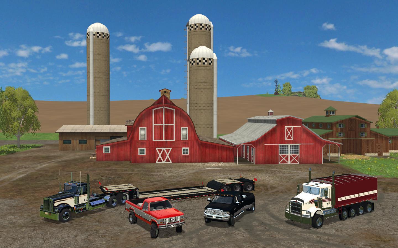 AMERICAN TRUCKS & LOWBOY PACK V1 FS15 - Farming simulator