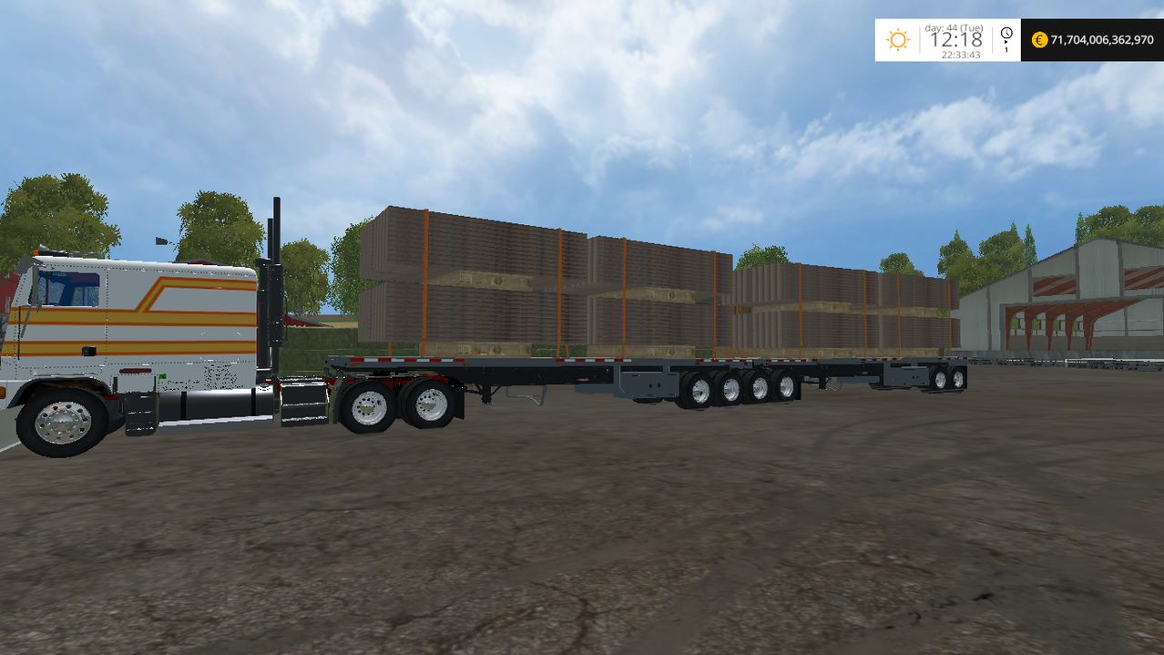 American Super B autoload trailer Mod - Farming simulator 2019