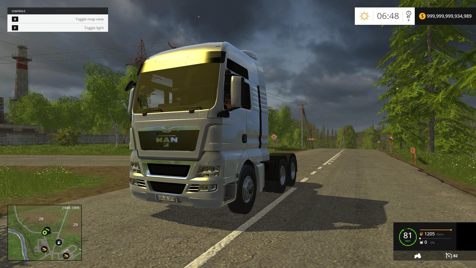 man tgx truck v1 0 farming simulator 2019 2017 2015 mod. Black Bedroom Furniture Sets. Home Design Ideas