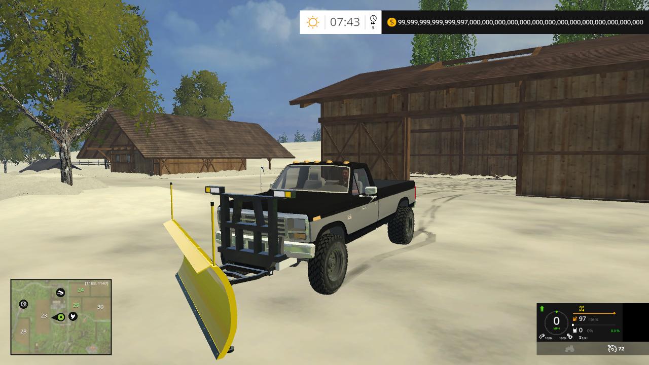 Plow for 1986 f250 plow truck Mod - Farming simulator 2019