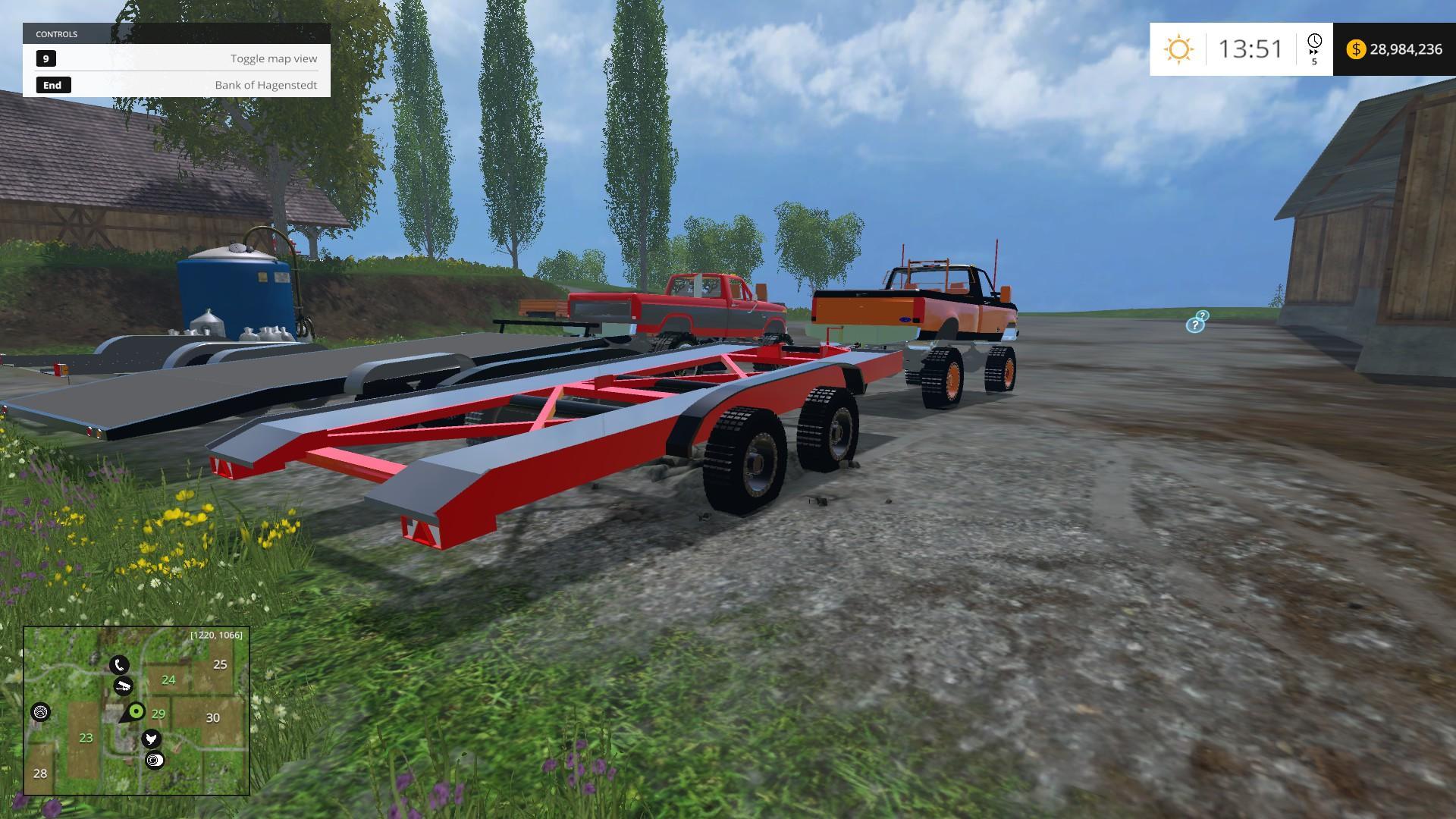 Cartrailer V1 Trailer Farming Simulator 19 17 15 Mod