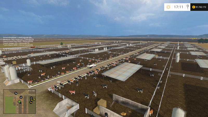 California Central Valley Map V Farming Simulator - Farming simulator 2015 us map feed cows