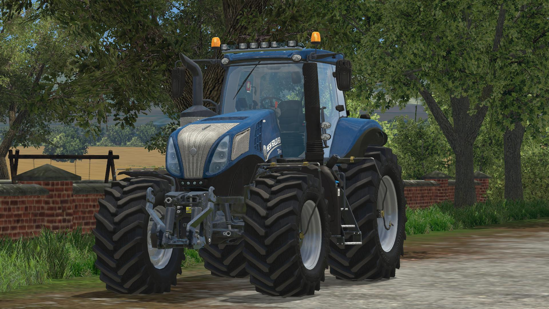 New Holland T8 420 Bluepower Tractor V1 Farming