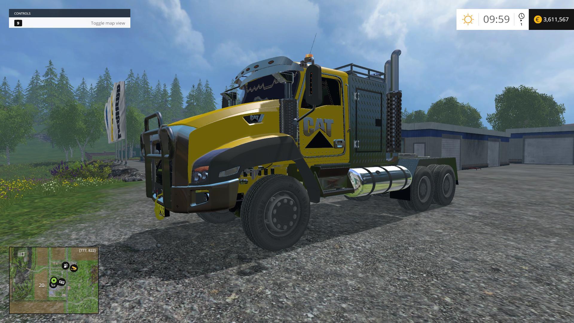 caterpillar truck v1 0 fs 2015 farming simulator 2019 2017 2015 mod. Black Bedroom Furniture Sets. Home Design Ideas