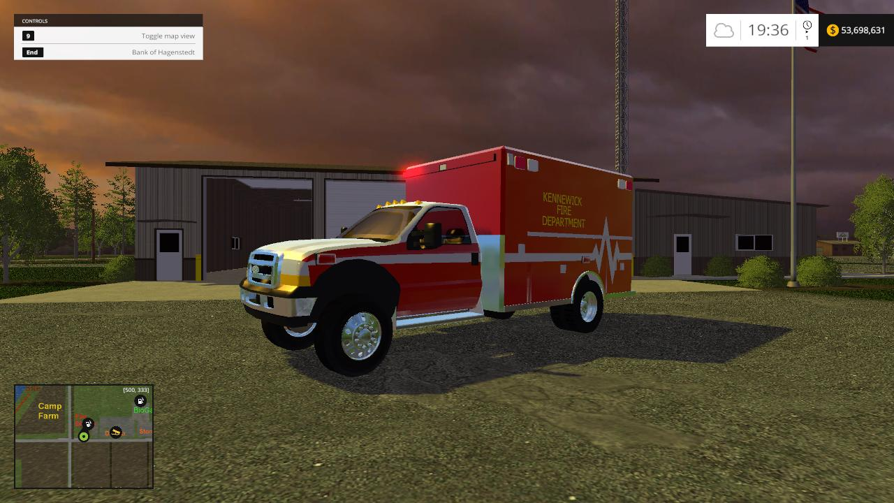 FIRE DEPT MEDIC/AMBULANCE V1 MOD - Farming simulator 2019