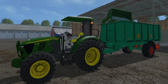 JOHN DEERE 5115M V1 0 MOD - Farming simulator 2019 / 2017 / 2015 Mod