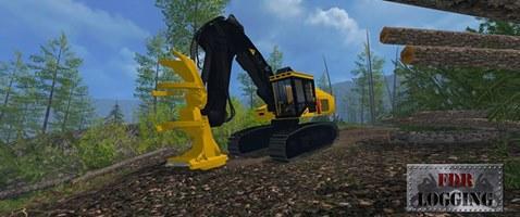 FDR LOGGING - TIGERCAT 870C FELLER BUNCHER LS15 - Farming