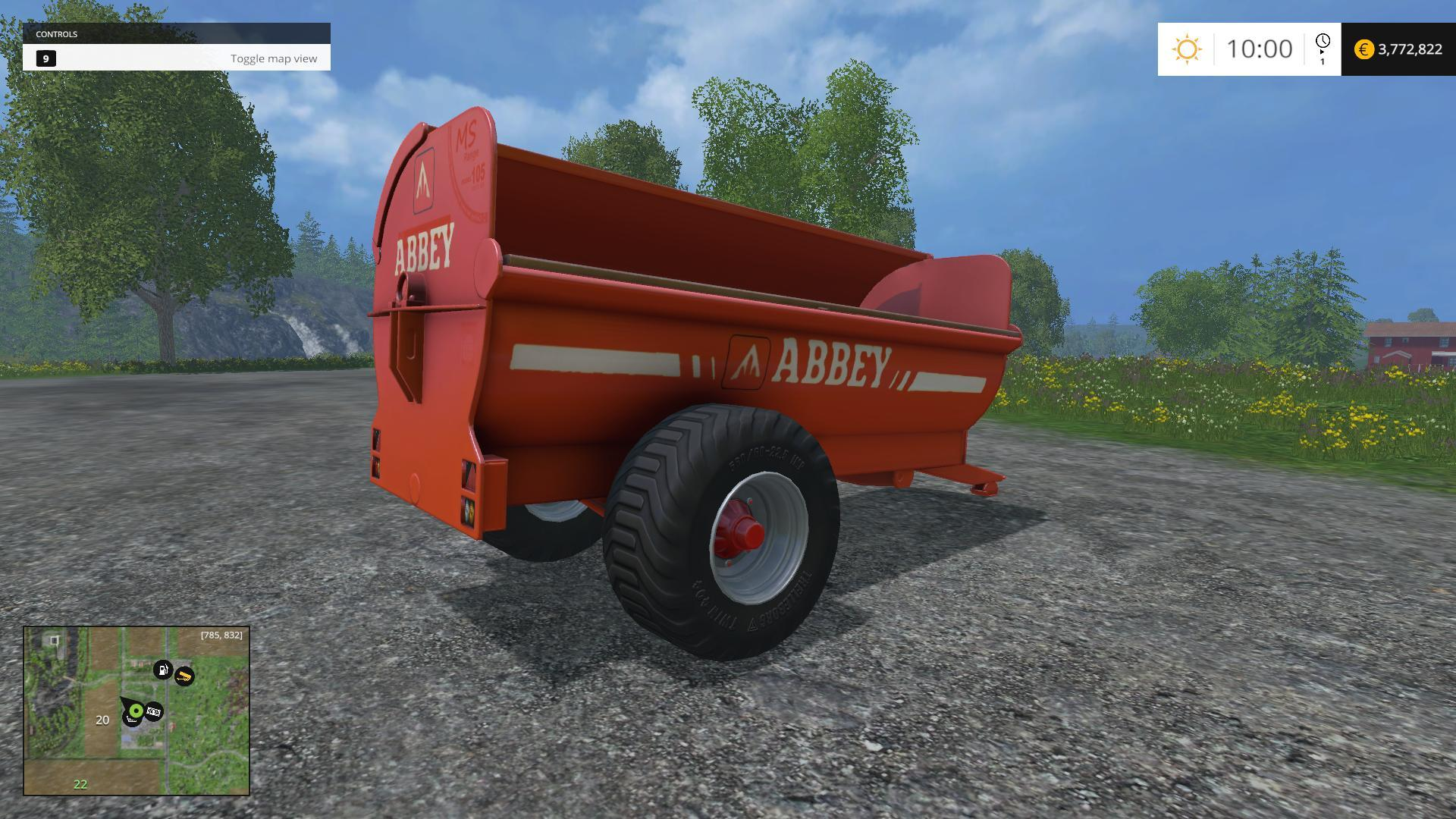 ABBEY MANURE SPREADER V1 MOD - Farming