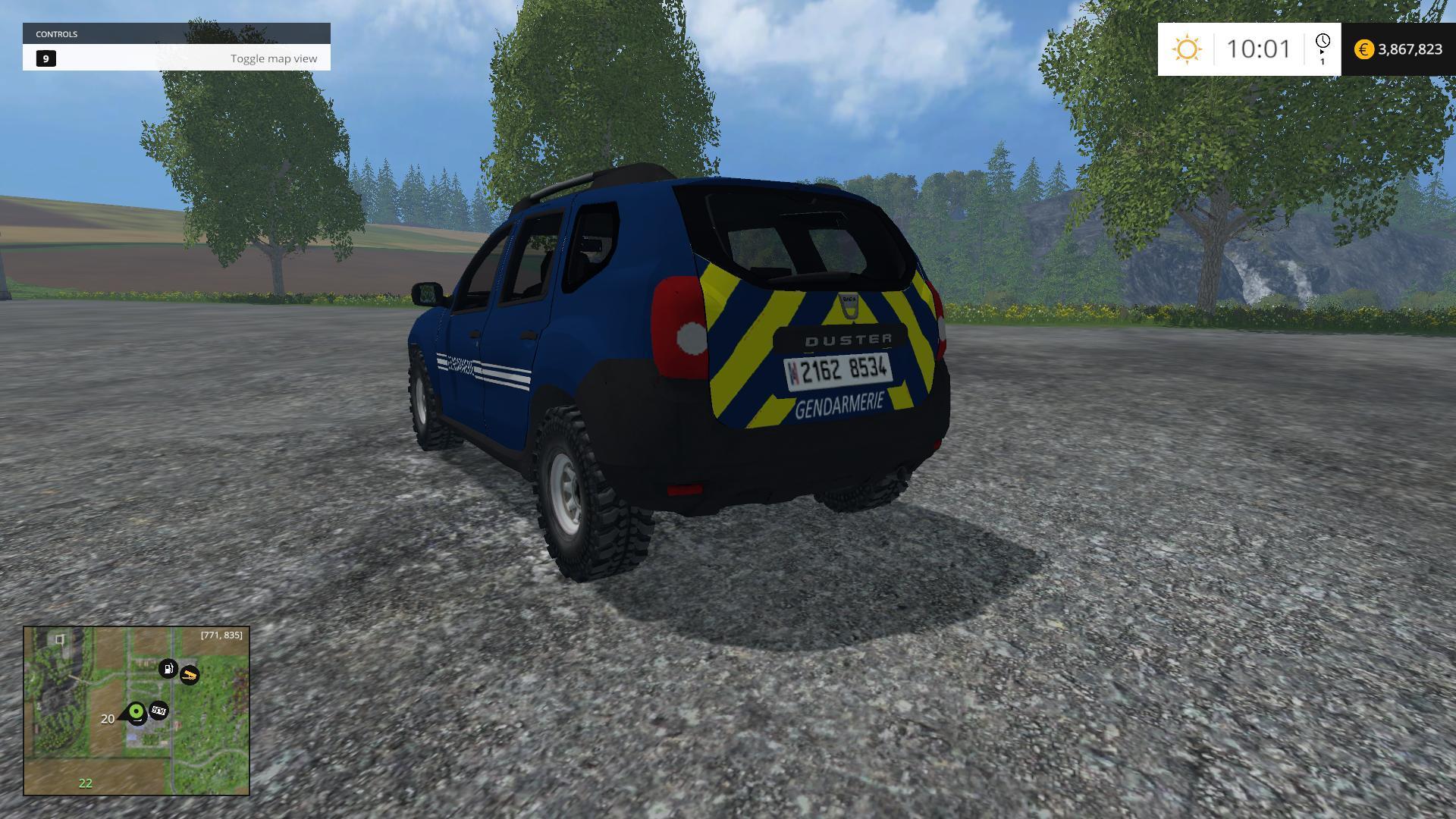 dacia duster gendarmerie nationale v1 0 fs 2015 farming simulator 2017 2015 15 17 ls mod. Black Bedroom Furniture Sets. Home Design Ideas