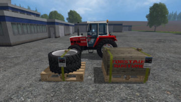 Twin tires, snow chains Pack STEYR 8060 SK2 V 1 LS15 (7)