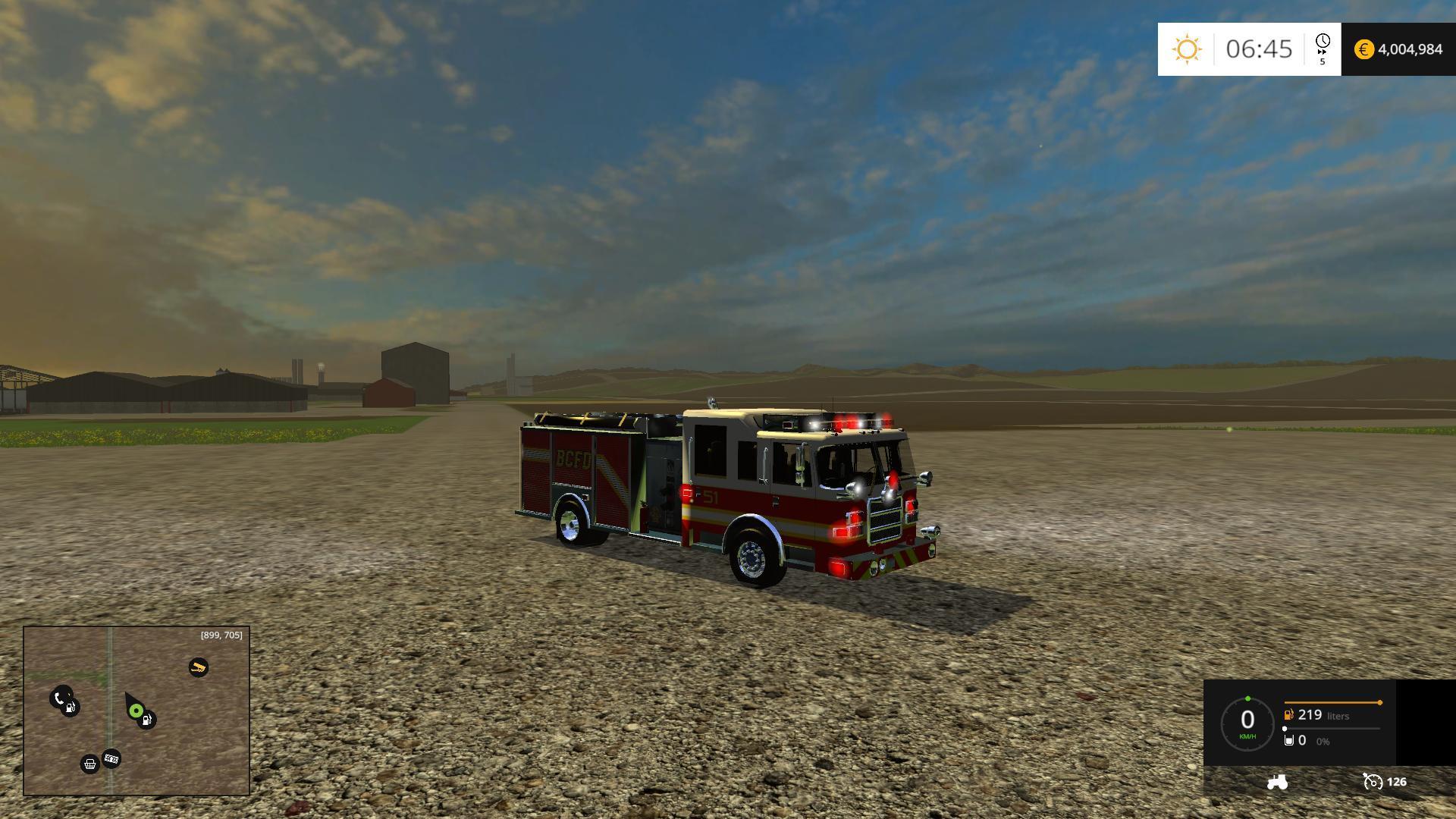 AMERICAN FIRE TRUCK WITH WORKING HOSE V1 0 FS15 - Farming simulator