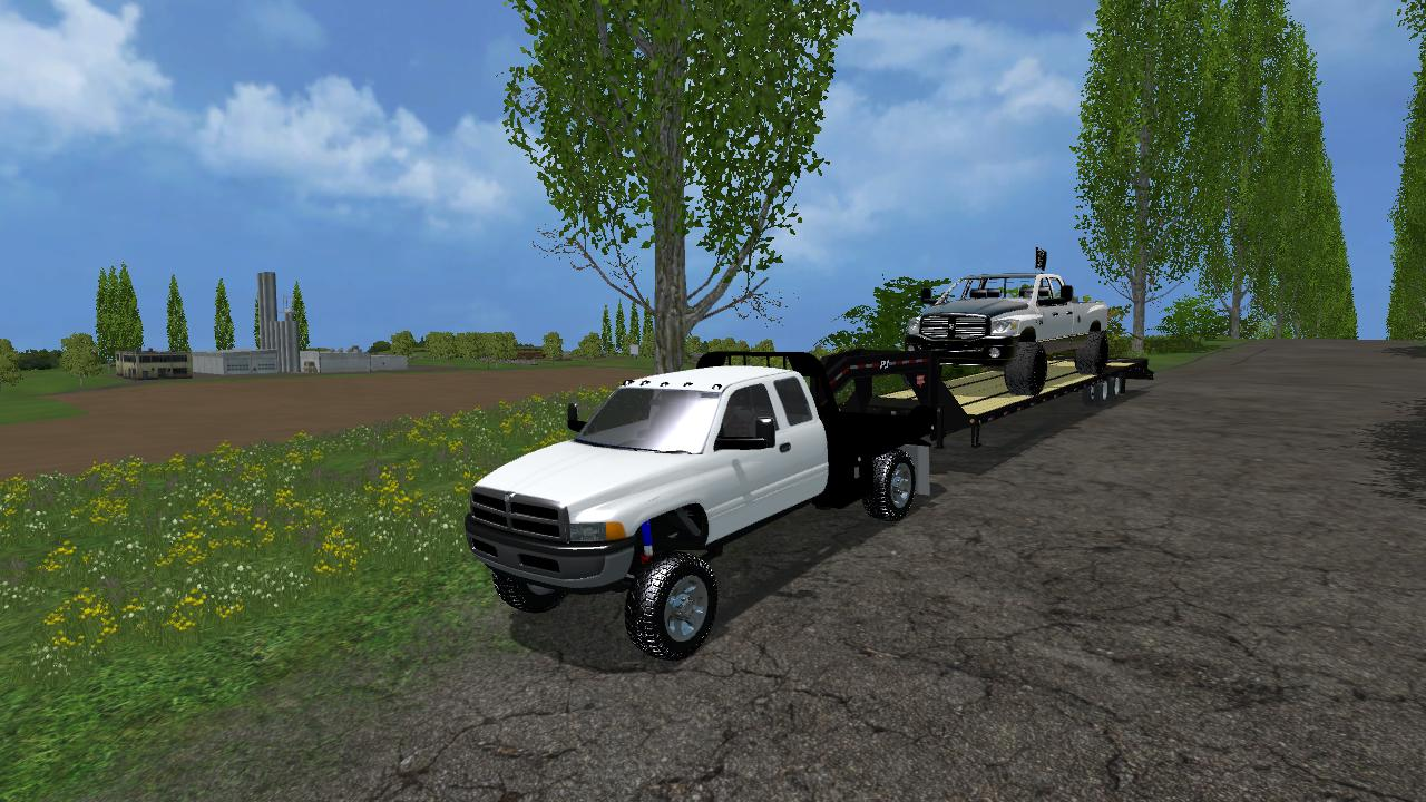 Dodge Second Gen 2500 Srw Flatbed V1 Fs15 Farming Simulator 19 17 15 Mod