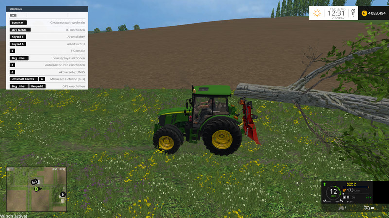 Functional forestry winch - krpan winch (beta) V 2 0 Beta FS15