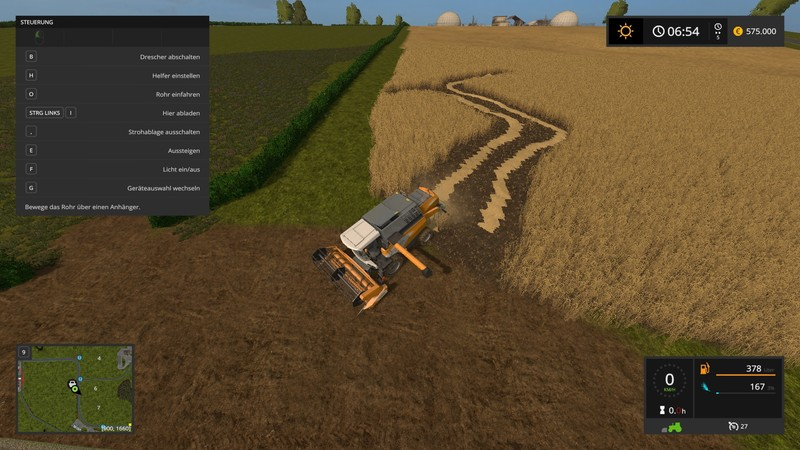 Fs17 Instructions For All Unload And Swath Deposit V 10 Farming