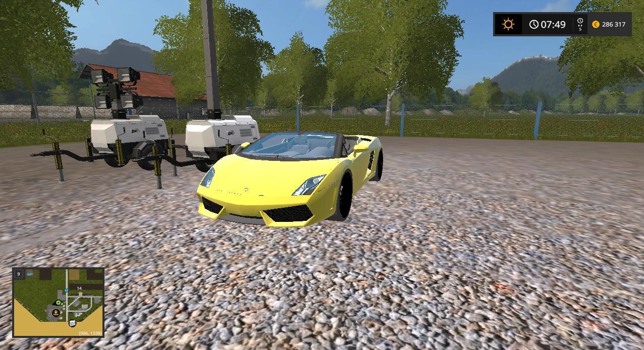 FS17 LAMBORGHINI GALLARDO SPYDER - Farming simulator 2019