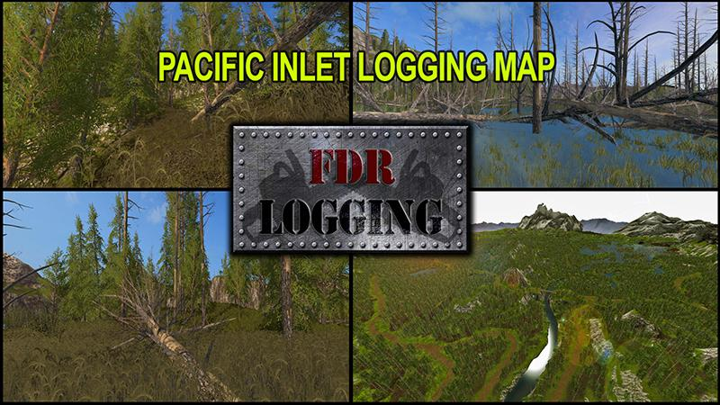 FS PACIFIC INLET LOGGING MAP V Farming Simulator - Us map mod fs 17