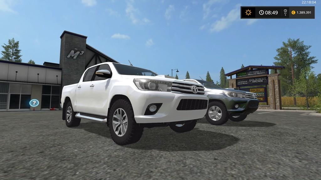FS17 Toyota Hilux - Farming simulator 2019 / 2017 / 2015 Mod