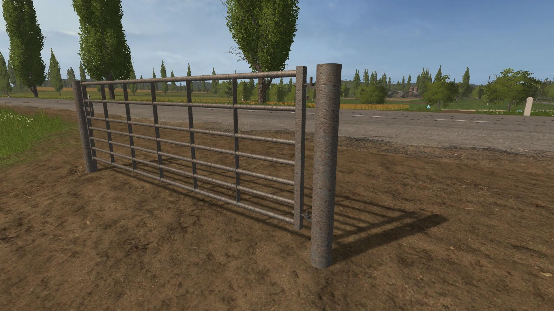 fs17 animated seven bar steel with light rust gates v1 0   2017    2015 mod