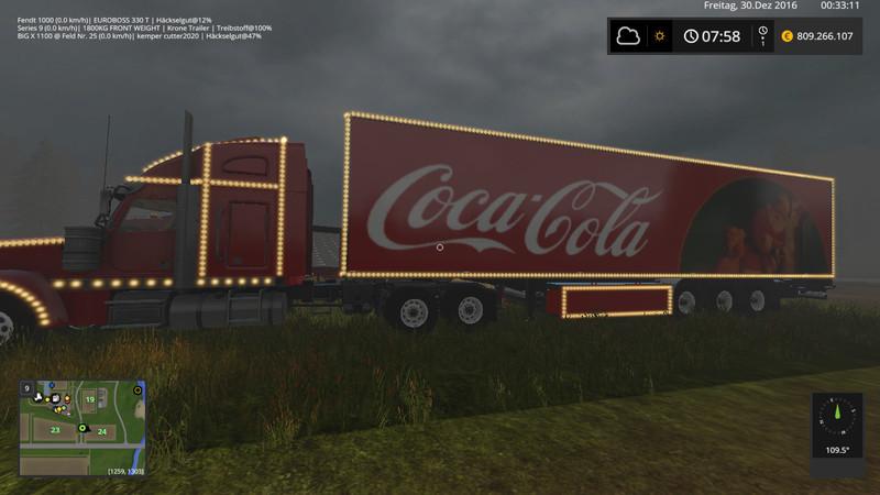 Coca Cola Christmas Truck Model