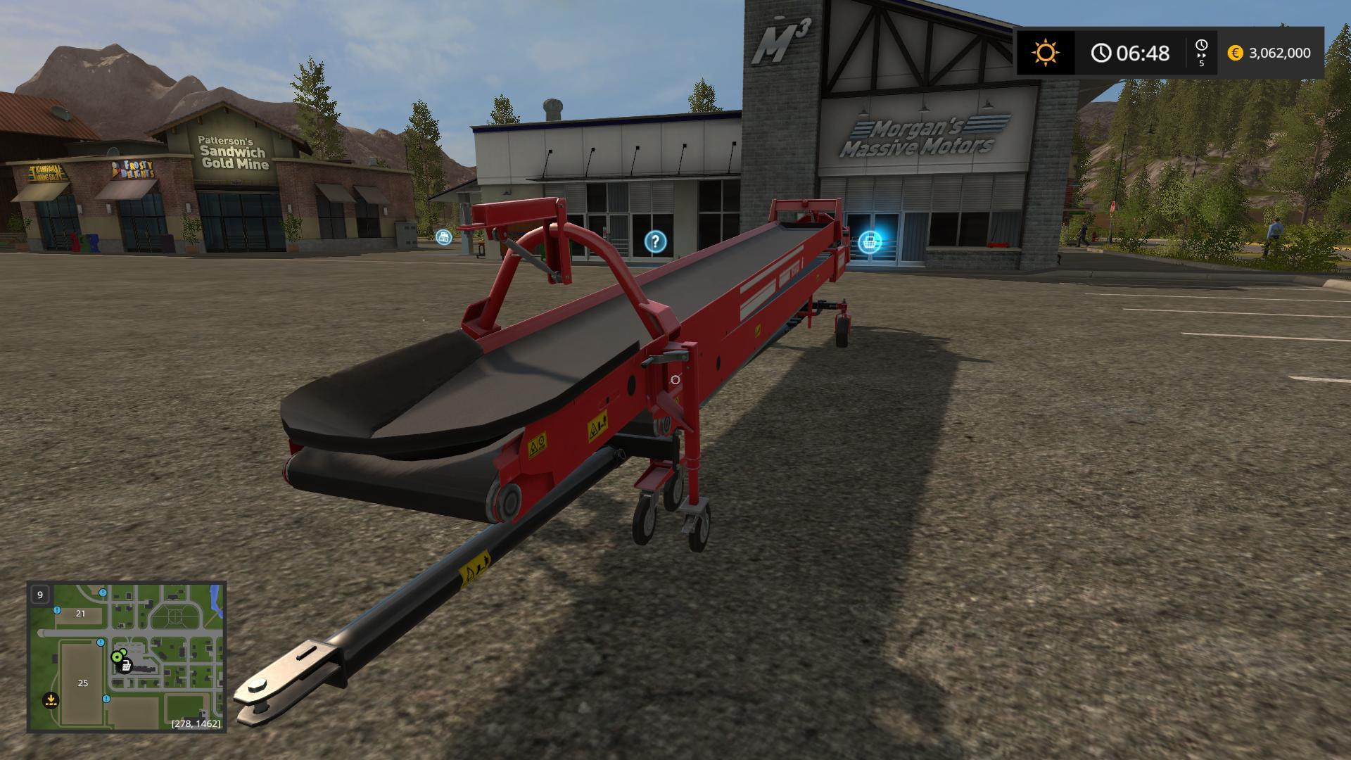 FS17 Lizard S-710 conveyor belt with faster Overloaded V 1 1
