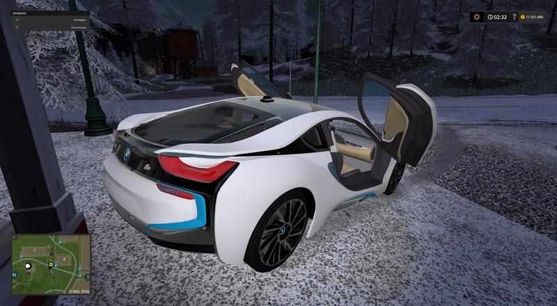 Fs17 Bmw I8 V 1 0 Farming Simulator 2019 2017 2015 Mod