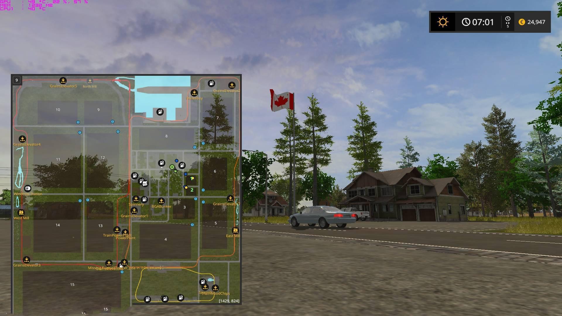 Canadian Map Farming Simulator 2015%0A FS   CANADIAN NATIONAL V