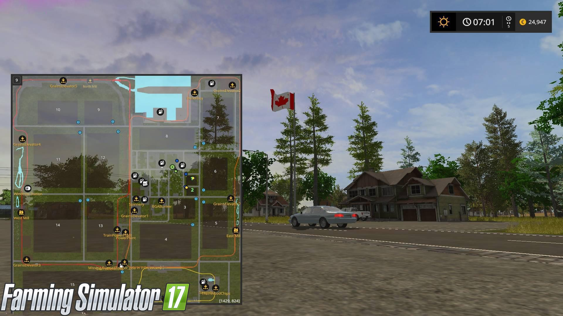 FS17 CANADIAN NATIONAL V6 Farming simulator 2017 2015 15