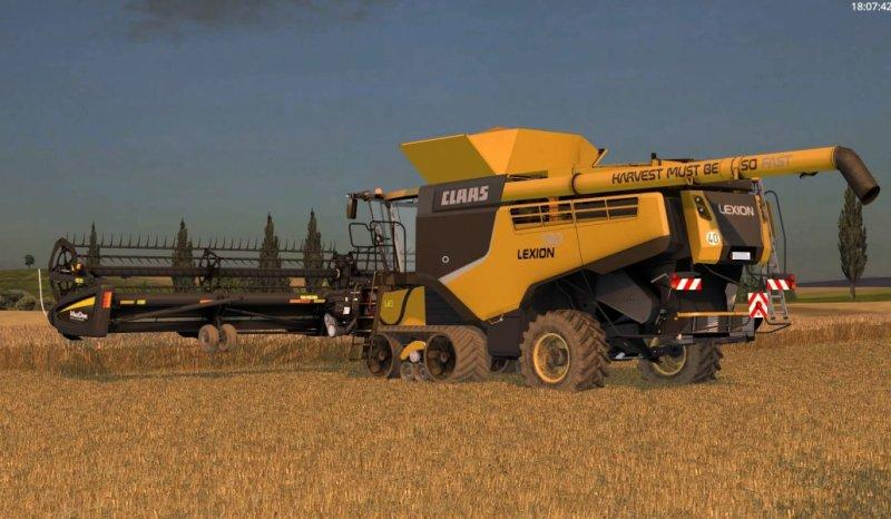 FS CLAAS LEXION TT USA EDITION SKINPACK Farming - Us map mod fs 17