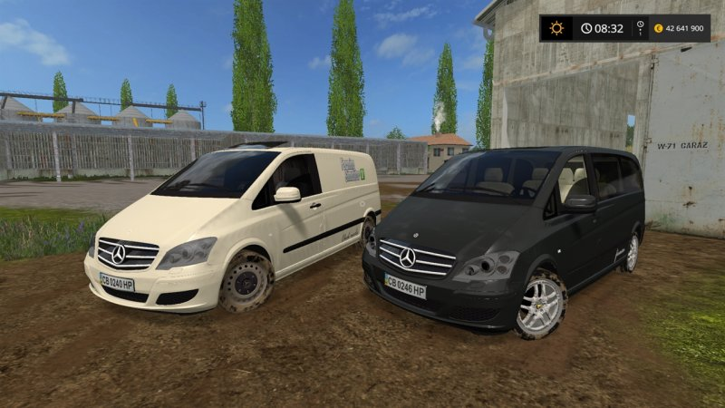 fs17 mercedes benz viano towhitch v 1 0 farming. Black Bedroom Furniture Sets. Home Design Ideas