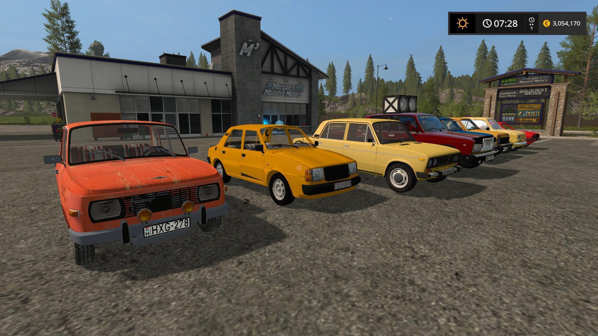 FS17 OLD CAR PACK V1.0 - Farming simulator 2019 / 2017 / 2015 Mod