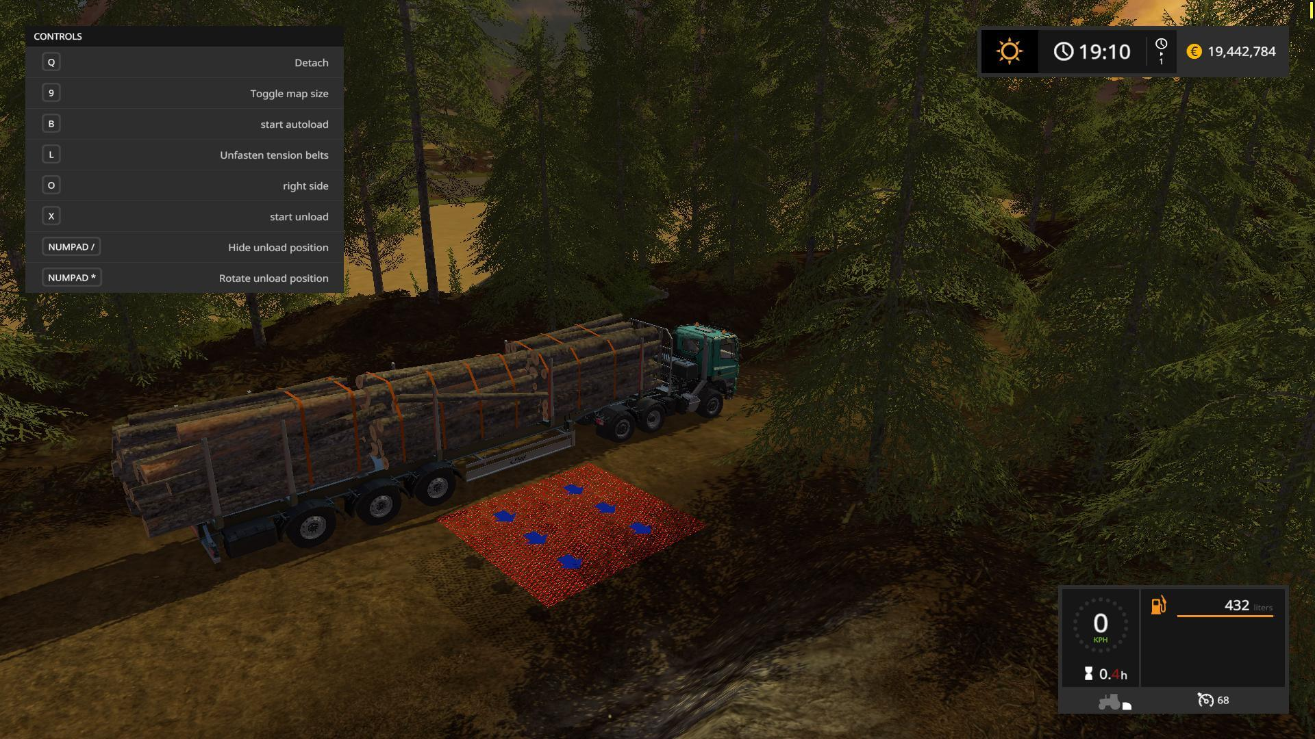 FS17 FLIEGL TIMBER RUNNER WIDE WITH AUTOLOAD V1 1 - Farming