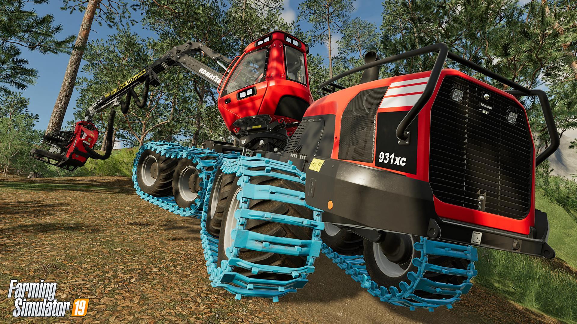 FS19 Komatsu Forest 931XC harvester in action - Farming