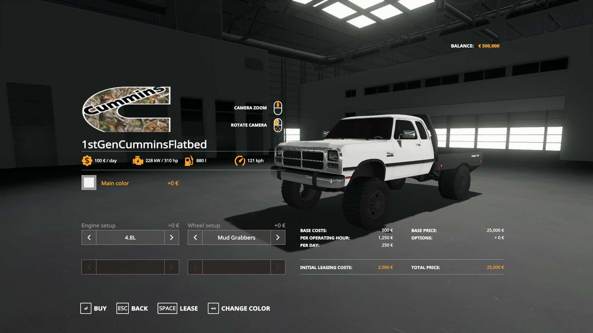 Fs19 1st Gen Cummins Flatbed V2 0 Farming Simulator 19 17 15 Mod