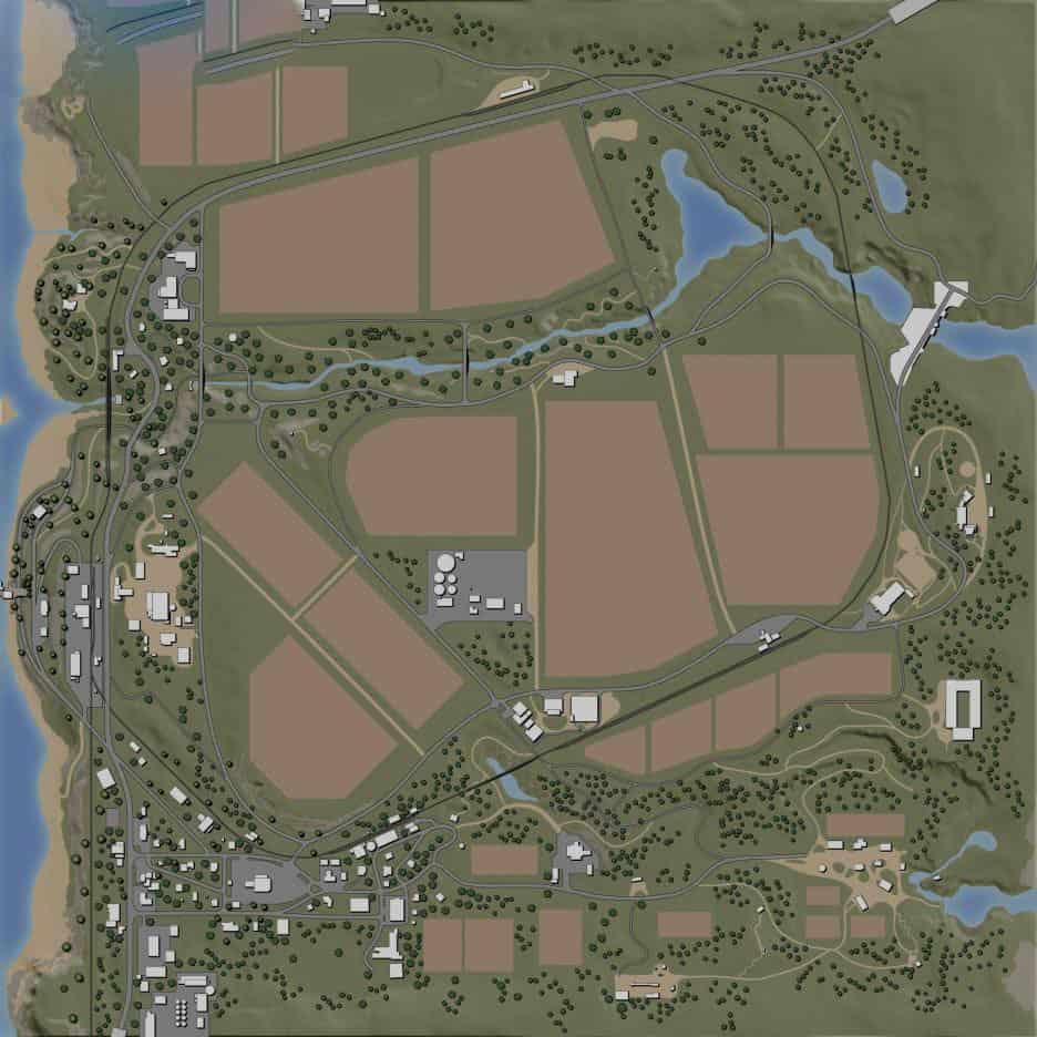 FS19 Ravenport (American Map) for Edit - Farming simulator