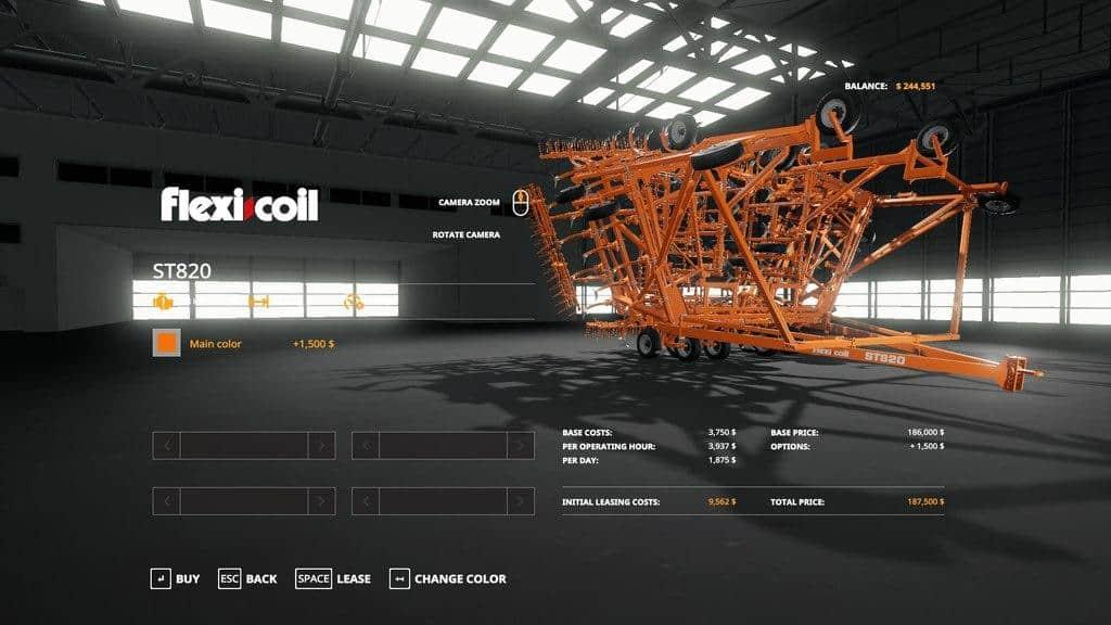 FS19 FLEXCOIL ST820 CULTIVATOR v1 0 0 1 - Farming simulator