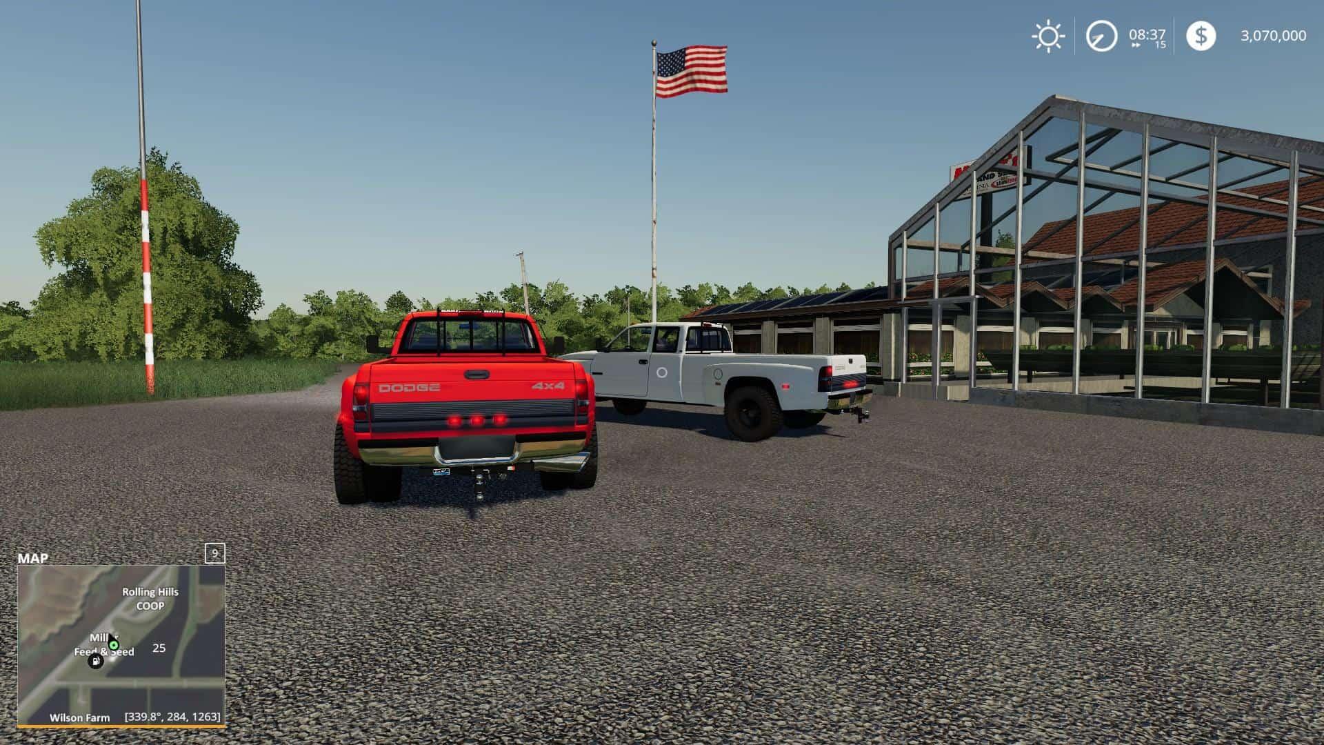Fs19 Dodge Ram 3500 V1 1 0 Farming Simulator 19 17 15 Mod