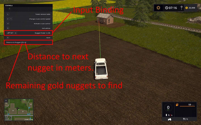FS17 Gold Nugget Finder v1 0 0 0 - Farming simulator 2019