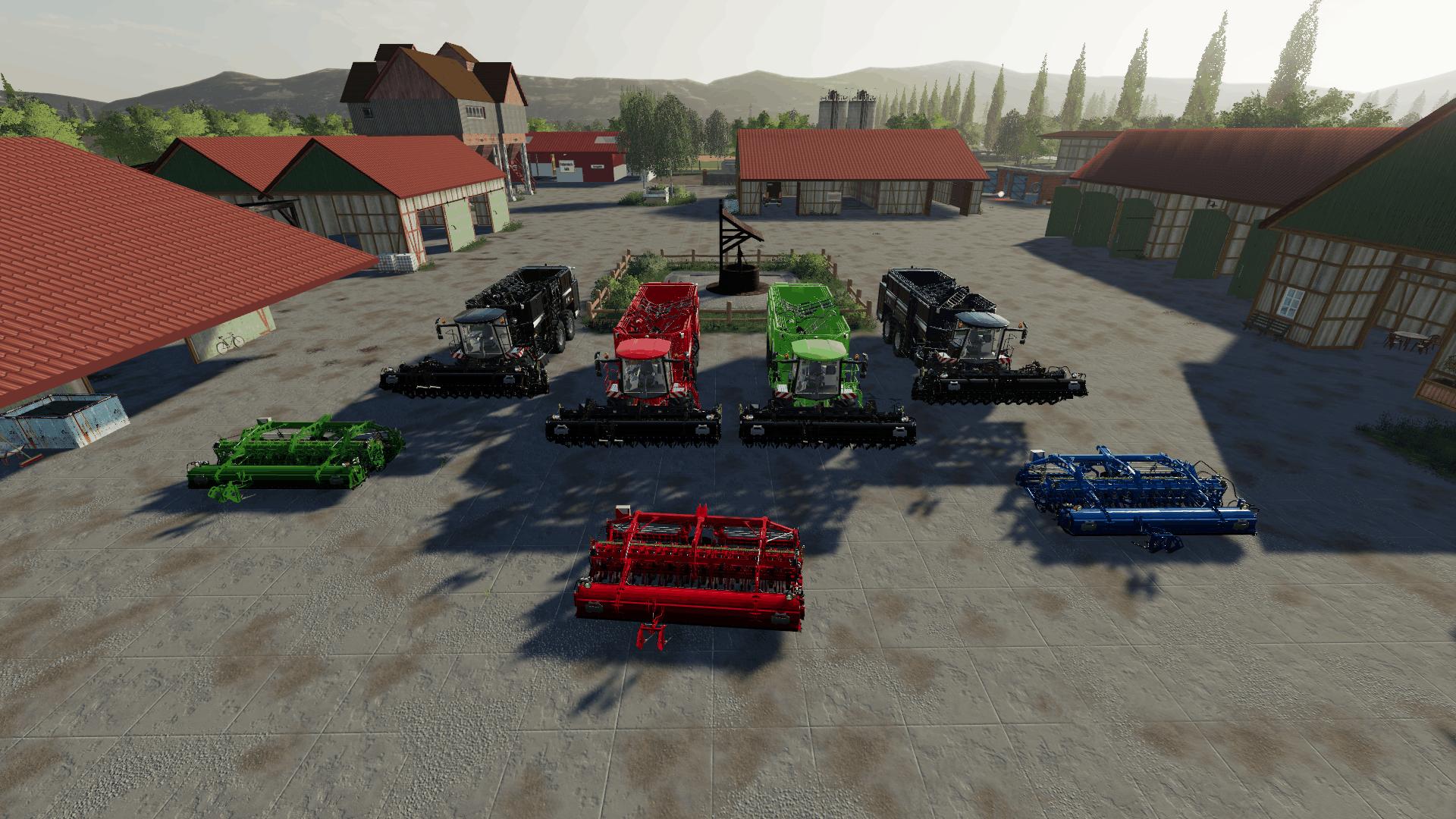 FS19 Holmer Terra DOS T4 Multifruit Colour incl Cutters - Farming