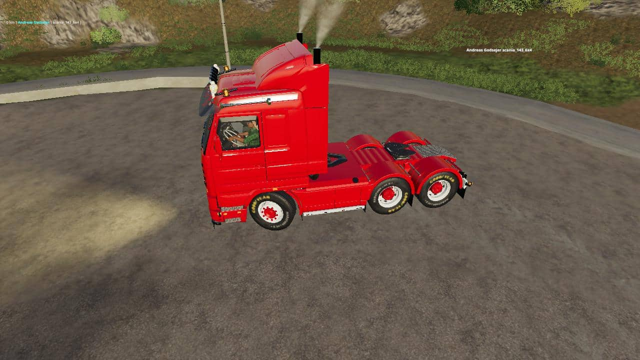 FS19 Scania 143 6x4 Swedish Edit v1 0 - Farming simulator