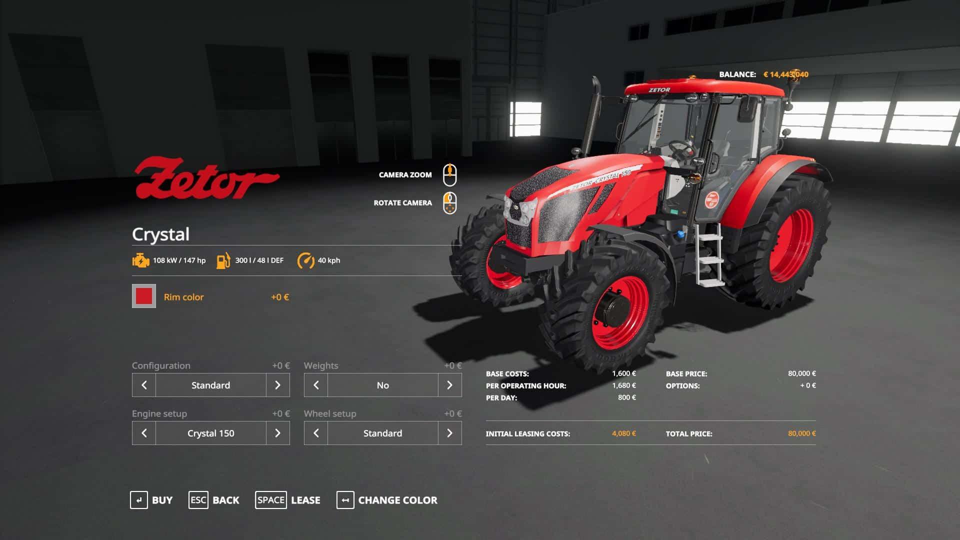 Fs19 Zetor Crystal 150 160 V2 0 Farming Simulator 19