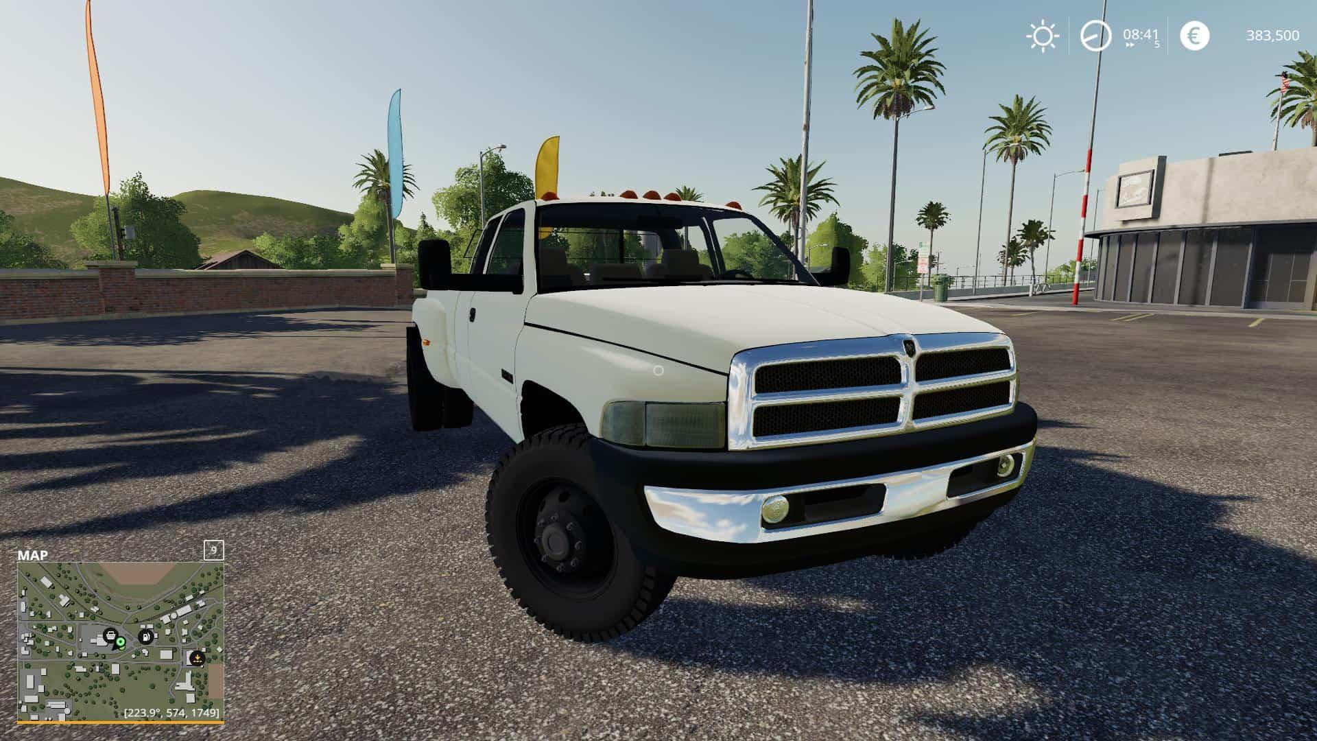 Fs19 2nd Gen Dodge Ram 3500 V2 1 Farming Simulator 19 17 15 Mod